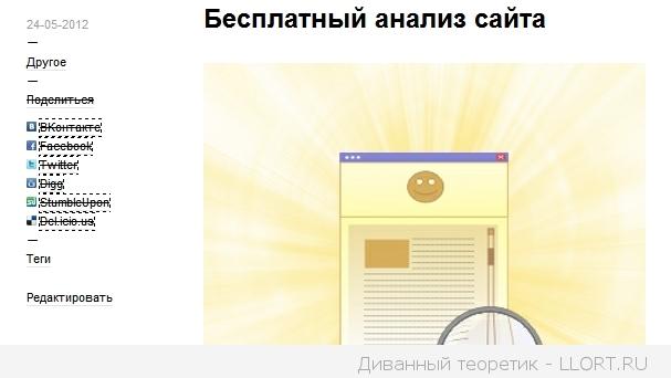 Анализ блога