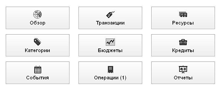 InEx Финансы Панель Управления