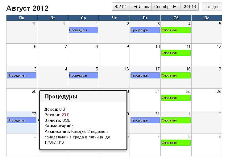 InEx Финансы Календарь Событий