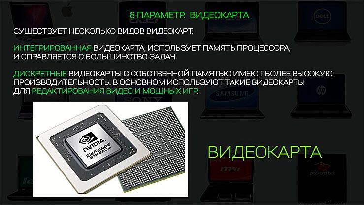 8 параметр. Видеокарта